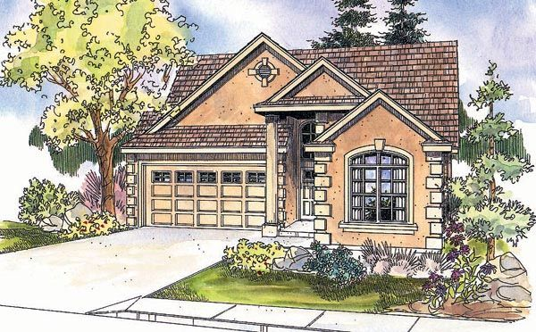 House Plan 69623 Traditional Plan With 2011 Sq Ft 3 Bedrooms 3 Bathrooms 2 Car Garage