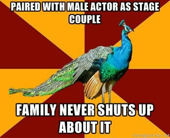 Thespian Peacock. Just found my new favorite meme