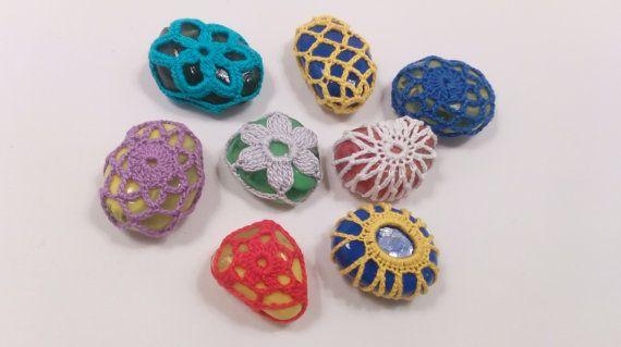Плетене на една кука дантела камък стъкло камък от JewelrySpace на Etsy