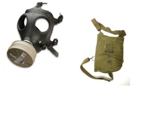 Israeli-Gas-Mask-w-New-Authentic-Sealed-Military-NBC-NATO-40-mm-Filter-and-bag