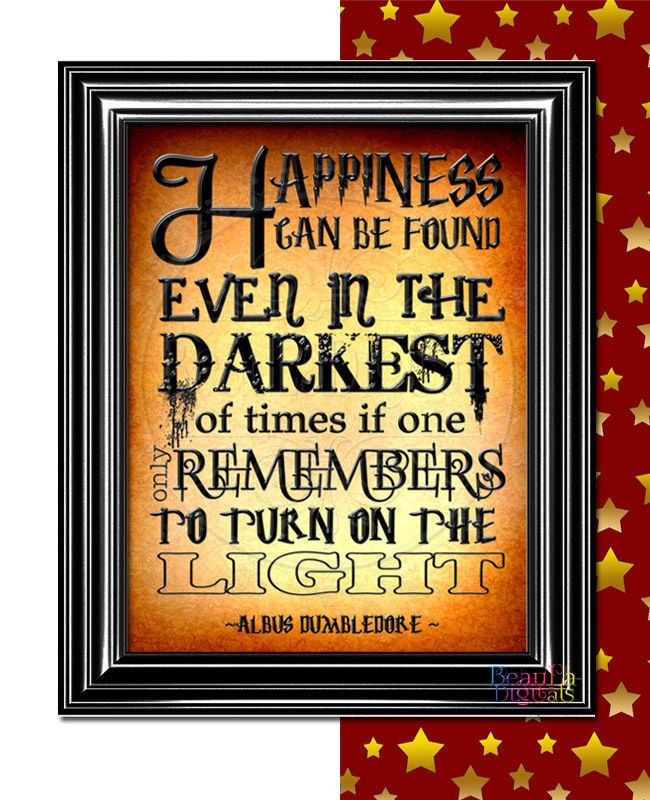 Harry Potter Print Albus Dumbledore Inspirational Quote - Glossy 300dpi 10x8inch