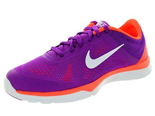 Nike Womens InSeason Tr 5 Vvd prplWhiteHypr OrngFchs Training Shoe 7 Women  US * Be sure