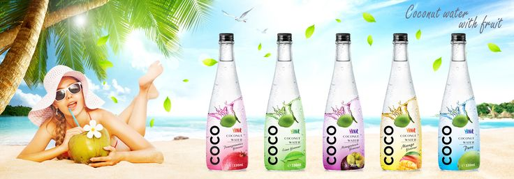 OEM Coconut water 330ml Wholesale Pure Coconut water with Mangosteen flavour