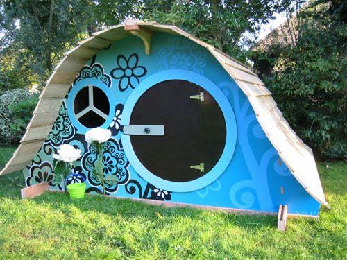 Its a Hobbit's world - Cubby Hobbit Hole house