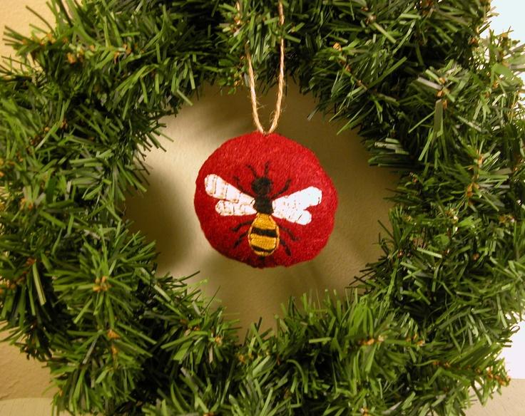 Felt Honey Bee Christmas Ornament 600 Via Etsy
