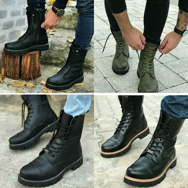 سفارشی انواع بوت های مردانه کد 1291 قیمت در دفتر ترکیه 208 000 T تحویل 7 تا 12 روز برای ثبت سفارش و دیدن تمام مدل ها Combat Boots Mens Fashion Boots