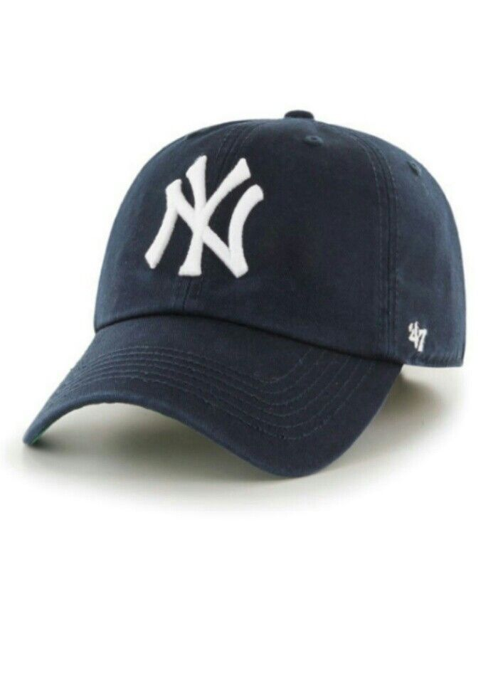 New York Yankees Club Logo 47brand Franchise Fitted Hat