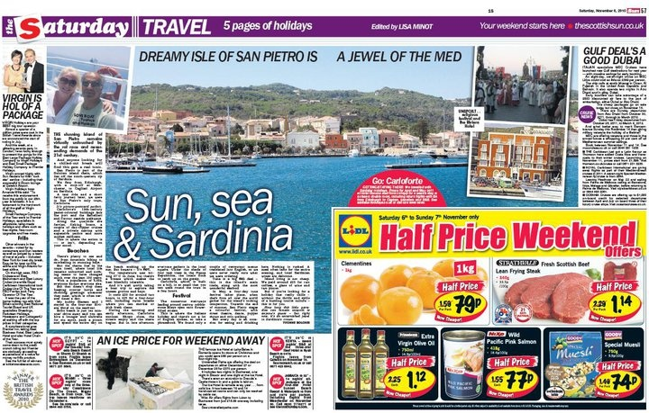 Untravelled Paths and Romania featured in The Scottish Sun. Nov 2012. www.untravelledpaths.com