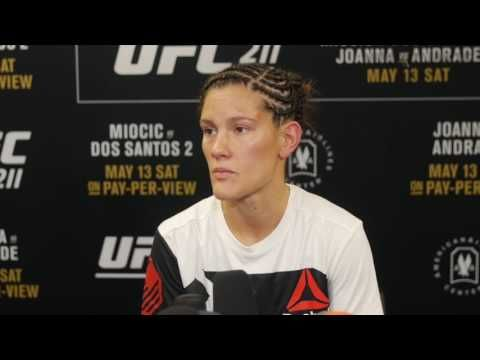 MMA Cortney Casey says UFC 211 win over Jessica Aguilar biggest of her career (full interview)