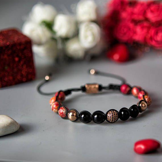 JASPER | Mens Shamballa Bracelet, Handcrafted Bracelet, 925 Sterling Silver, Cubic Zirconia, Mens Jewelry, Gift for Men, Anniversary Gift
