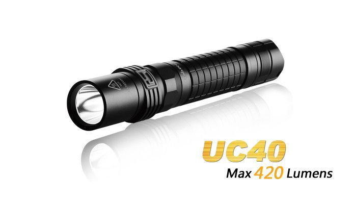 The Fenix UC40 Rechargeable Flashlight combines high intensity with reliable USB and AC charging. Producing 420-lumen max output, UC40 offers four brightness levels down to 9 lumens and 130 hours of runtime. Positive side switching on the head means total control of this long reaching light built to answer the call for years to come. #hidcanada