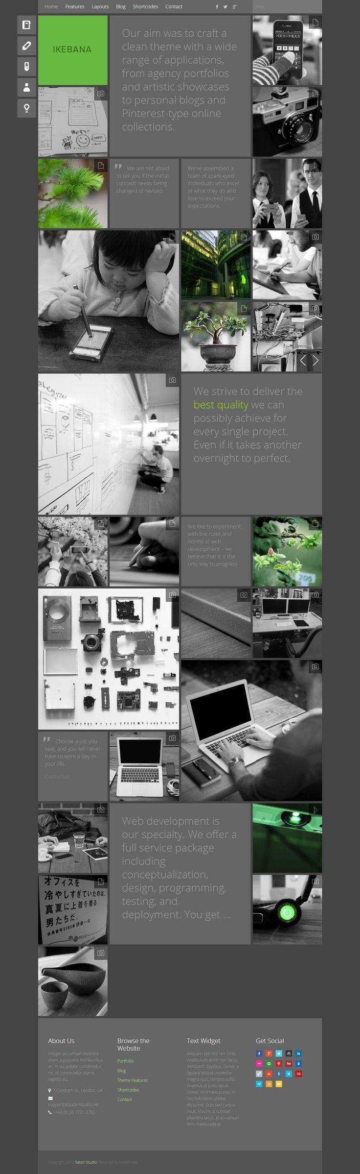 Ikebana - Masonry WordPress Portfolio Theme http://themeforest.net/item/ikebana-masonry-wordpress-portfolio-theme/5295994?ref=wpaw #web #design #wordpress