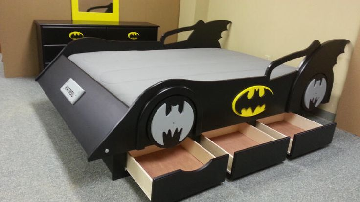 Batman Bed With Drawers Cama Coches Decoraciones De