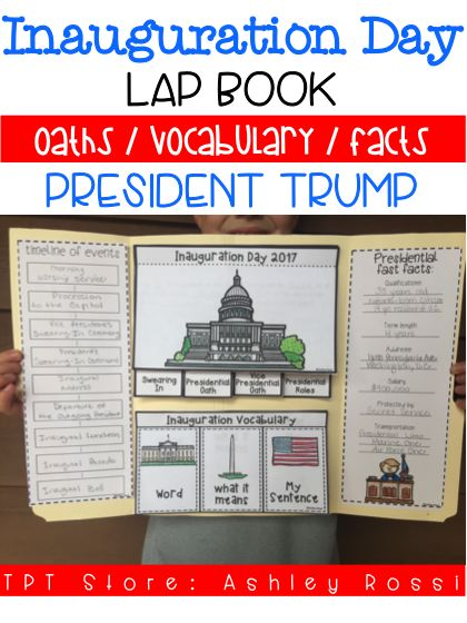 Teaching about Inauguration Day has never been easier with this fun lap book. It has over 3O vocabulary words, the Oaths of Office for the President Elect and Vice President, Presidential fast facts, and timeline of events of the historic day.