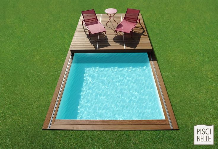 Terrasse Piscine Mobile : Le Rolling-deck Piscinelle | Small Pools ... 20 Tolle Swimmingpool Designs Geometrisch