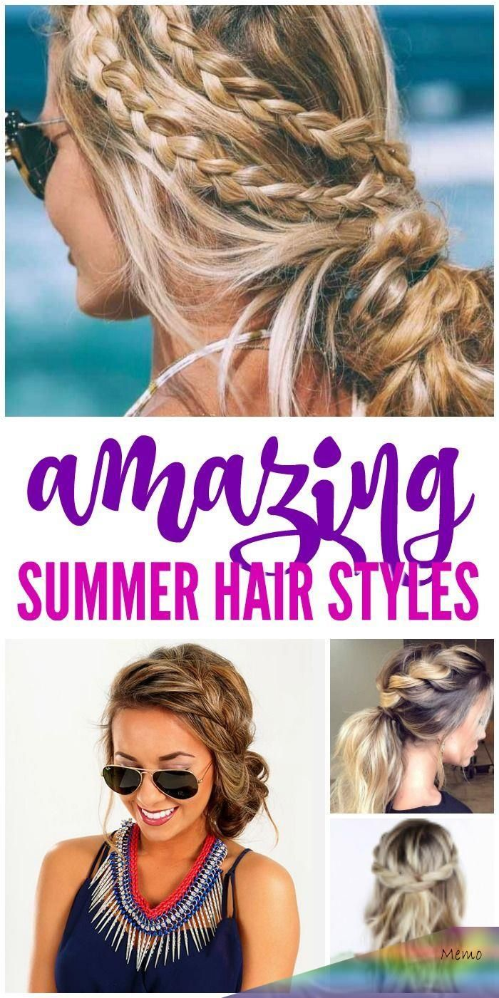Amazing Summer Hair Styles And Trends For Women The Best Curls Braids Twists And Updos For Summertime Heading T In 2020 Summer Hairstyles Hair Styles Easy Hair Up