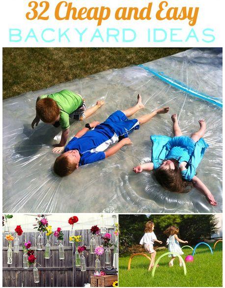 32 Cheap and Easy Backyard Ideas – Borderline Genius