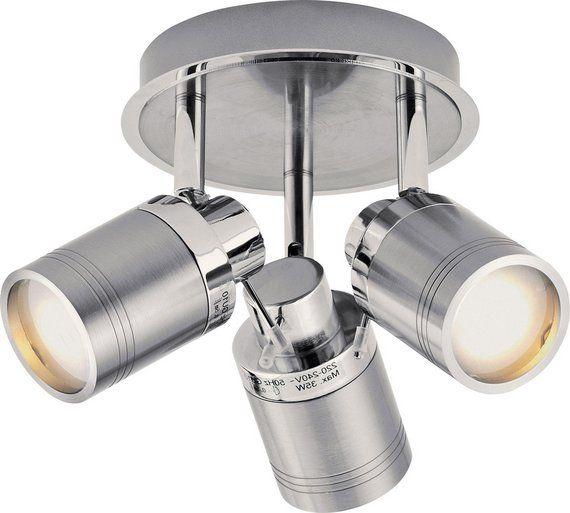 The 25 best bathroom spotlights ideas on pinterest farmhouse buy collection livorno 3 light bathroom spotlight chrome at argos mozeypictures Gallery