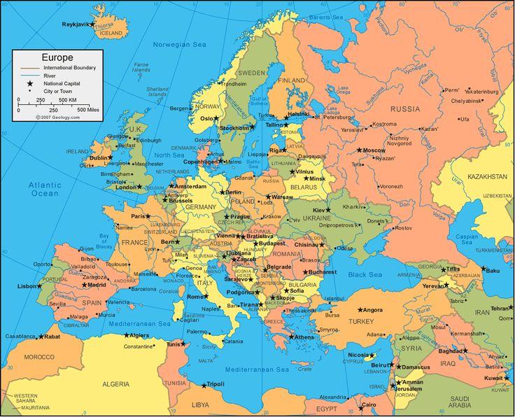 De 279 B�sta World Mapbilderna P� Pinterest Vera Bradley: Map Of Europe Showing Prague At Infoasik.co