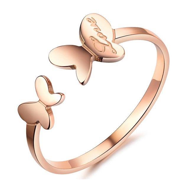 Бесплатная Доставка оптовых новые ювелирные изделия горячие продажа роуз позолоченные Из Нержавеющей Стали кольца кольцо женщин партийные кольца LGJ394