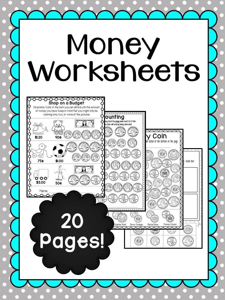 money worksheets coins colors and money worksheets. Black Bedroom Furniture Sets. Home Design Ideas