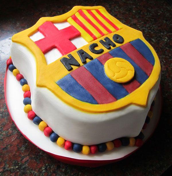 Torta modelo escudo Barcelona | Tortas | Pinterest