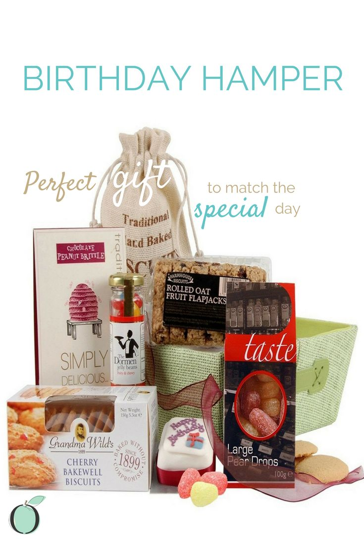 BIRTHDAY HAMPER: Our *birthday hamper is a popular gift for birthday celebrations! The hamper offers a selection of mouth watering treats like cookies, chocolates, biscuits, flapjacks, sherbet & of course a birthday cake, perfect gift to match the special day.