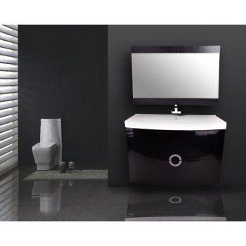 Amari Gloss Black Vanity Unit Set 900mm