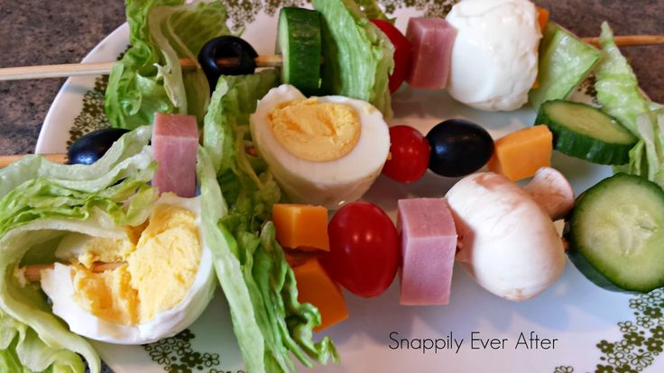 Salad on a Stick. What a great way to serve a chef's salad or just to get your kids to eat some veggies.