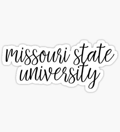 Missouri State University Sticker