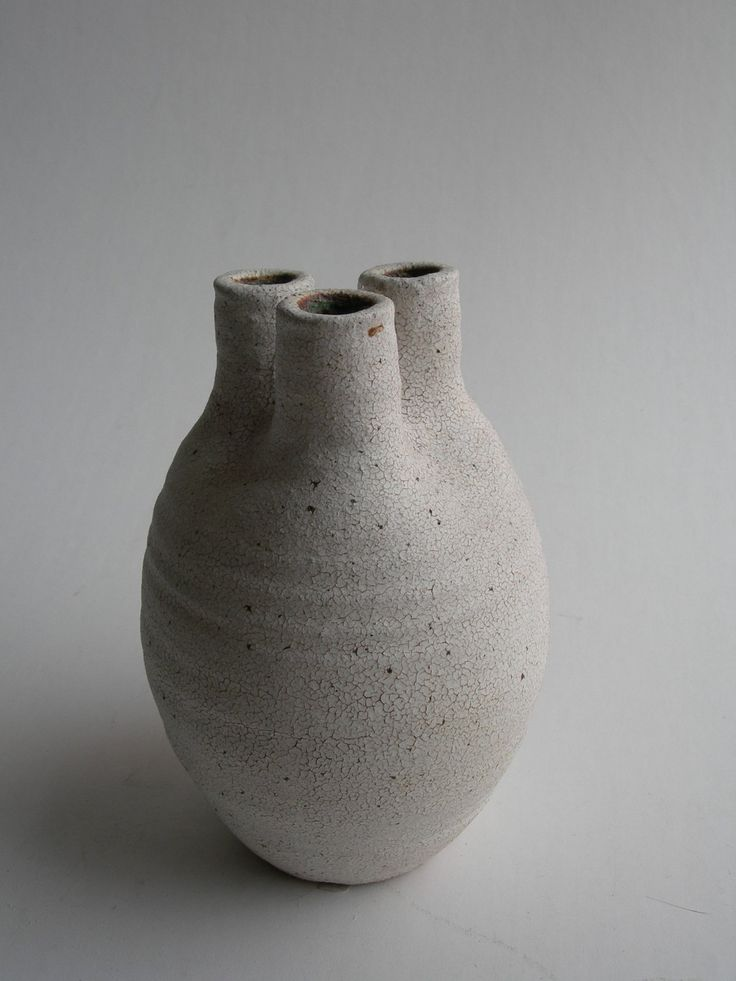 tri-spout vase by yumiko kuga -- this form is also known as a branch pot