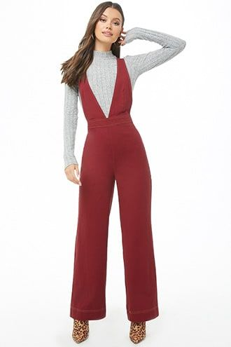 16f9f7b162a Plunging Pinafore Jumpsuit in 2019