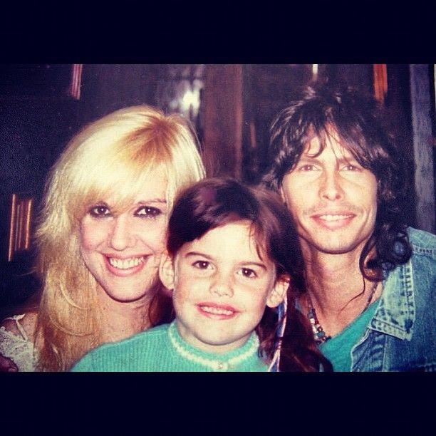 Steven Tyler of Aerosmith, Cyrinda Foxe and their daughter Mia
