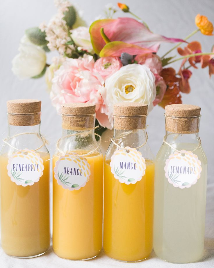 Mimosa Bar Bridal Shower Brunch with Free Printables!