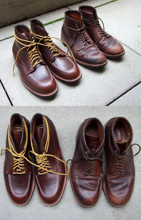 Old and New Alden Indy boot