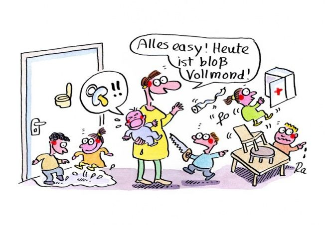 Kindergarten_KiGaPortal_Cartoon_Renate Alf_Vollmond