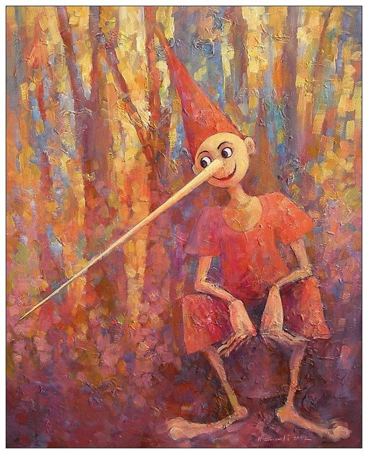 Pinocchio, 100x80cm, acrylic, canvas, for sale Krzysztof Lozowski www.artmajeur.com/lozowski