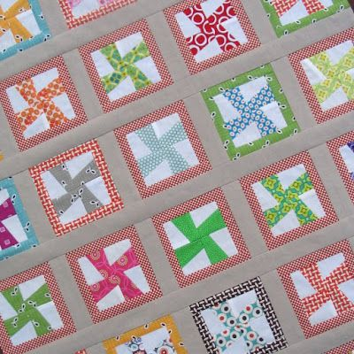 Redpepperquilts... Super cute pinwheels...