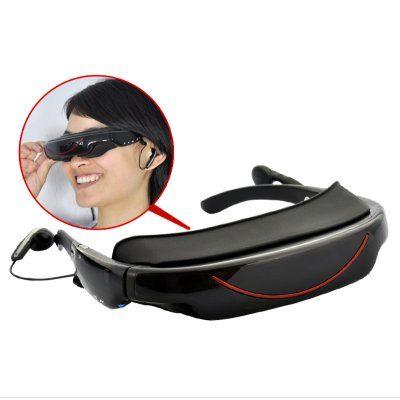 Hi-tech portable video glasses! Your portable entertainment center!