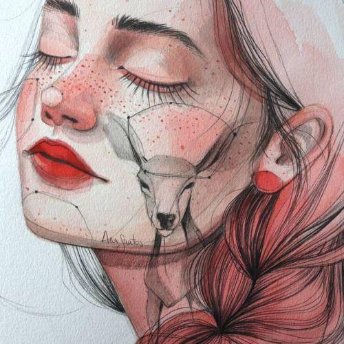 Illustrator Ana Santos Paints Fantastical Female Faces Discover...