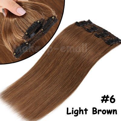 Details about Luxury Clip in Remy Human Hair Exten…