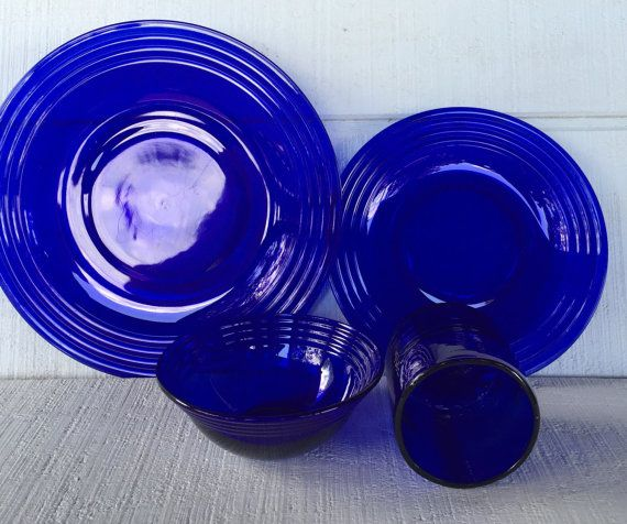56 best vintage blue glass images on Pinterest   Cobalt blue, Aqua ...