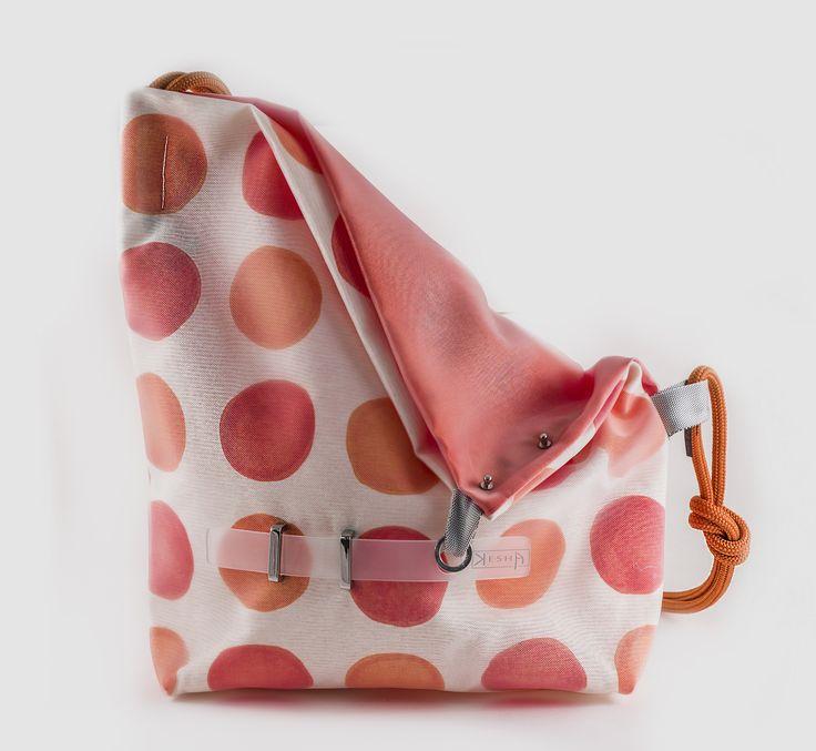 Unique handmade textile bag by Andrea Kesserű…