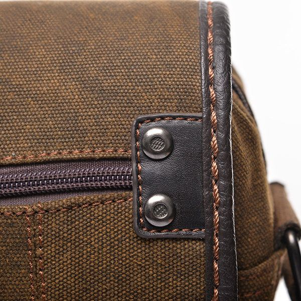 Canvas Patchwork Sling Bag Light Durable Crossbody Bag Shoulder Bag For Men