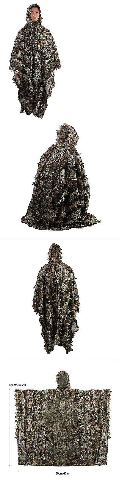 Ghillie Suits 177870: Zicac Outdoor 3D Leaves Camouflage Ghillie Poncho Camo Cape Clo... Free Shipping -> BUY IT NOW ONLY: $38.15 on eBay!