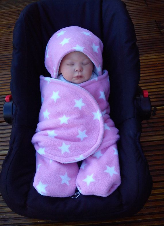 Car Seat Cosy Wrap Swaddle Blanket Baby Pink And By