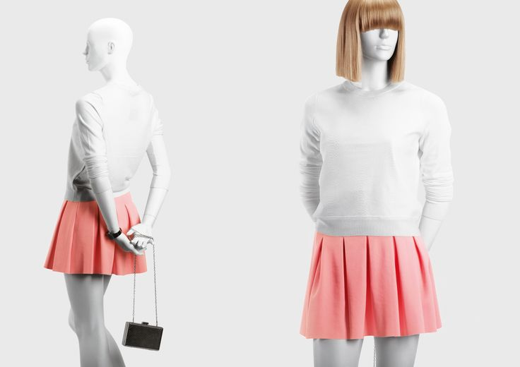 NEXT Collection by More Mannequins #FemaleMannequin #boutique #fashion #wigs #pinkskirt