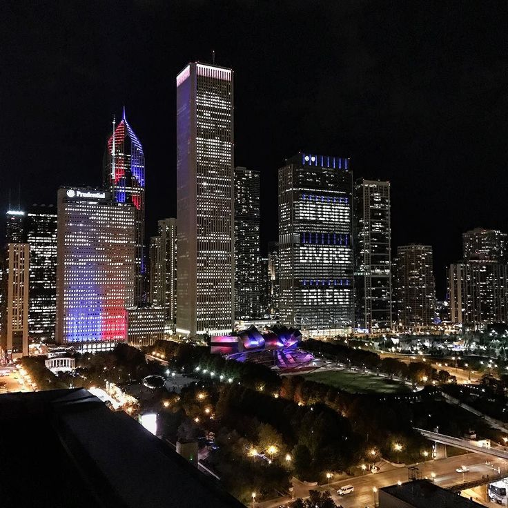 Chicago city from the Cliffdweller's Club Rooftop. #chicago #cityview #chicagonightlife
