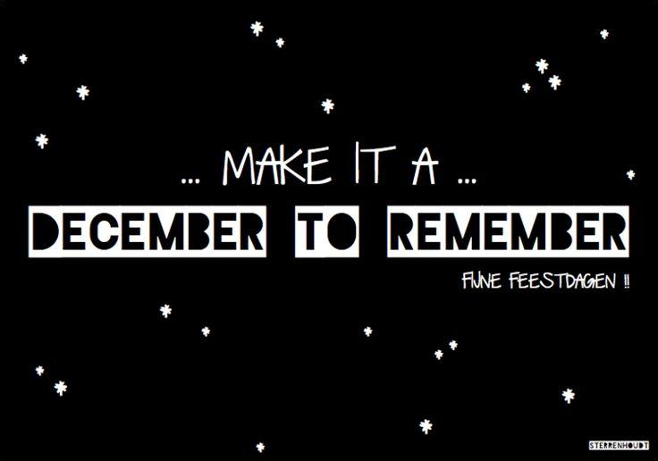 Kerstkaart | December to Remember | Sterrenhoudt - Sterrenhoudt |Designd With Love|
