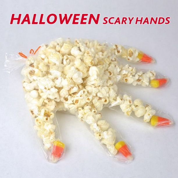 This Halloween, why not give trick or treaters a scary 'hand' with gloves full of popcorn and lollies at the 'nails'. Use clear powder free gloves like Ansell and seal them up with twist ties. So easy and perfect for the kids to help! (image: instructables.com)